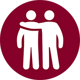 Icon of two people standing next to each other.